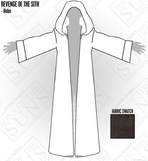 jedi robe template stuff pinterest vestidos vestidos de
