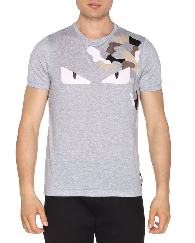 9cd1c4b2571 Fendi Monster Eyes Short-Sleeve T-Shirt