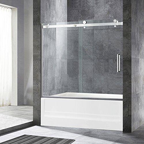 WoodBridge Deluxe Frameless Sliding Tub Door, 5/16 Clear ... Https: