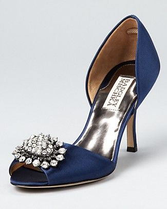 Badgley Mischka Pumps Lacie D Orsay 215 In Navy Or White