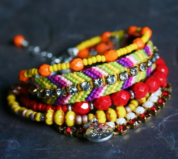 Layered Lovelies - Bohemian Style Multiple Strand Friendship Bracelet