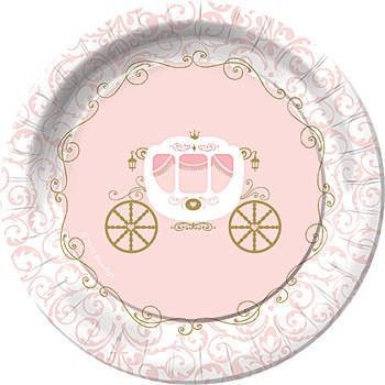 Our Pink Provincial Princess Dessert Plates feature a royal carriage surrounded by a border of elegant swirls. These Pink Provincial Princess Plates are the ...  sc 1 st  Pinterest & Our Pink Provincial Princess Dessert Plates feature a royal carriage ...