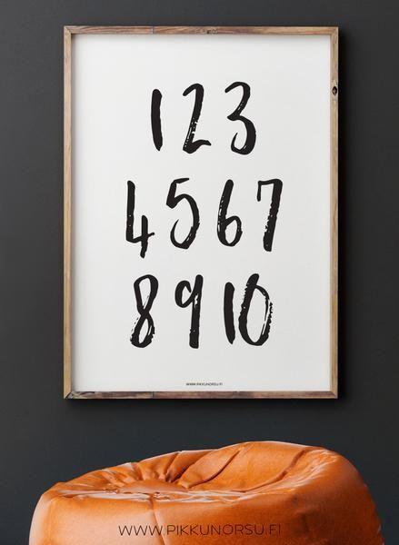 Modernit numerot nyt myös 50x70 cm-kokoisena