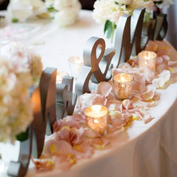 This is one of my favorites on Z Create Design: Mr and Mrs Signs for Wedding Table
