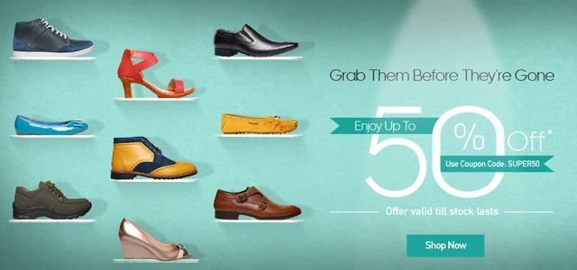 Flat 50% Off On #Sale #Bata Products.Use our latest Bata
