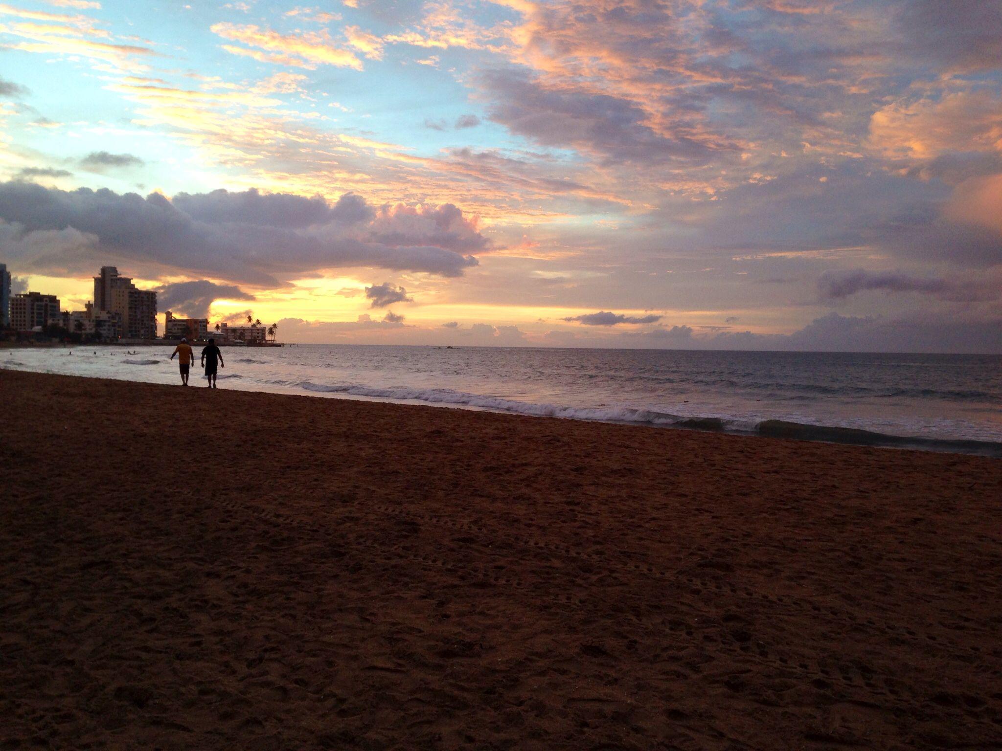 Beautiful Sunset Isla Verde Beach-Puerto Rico