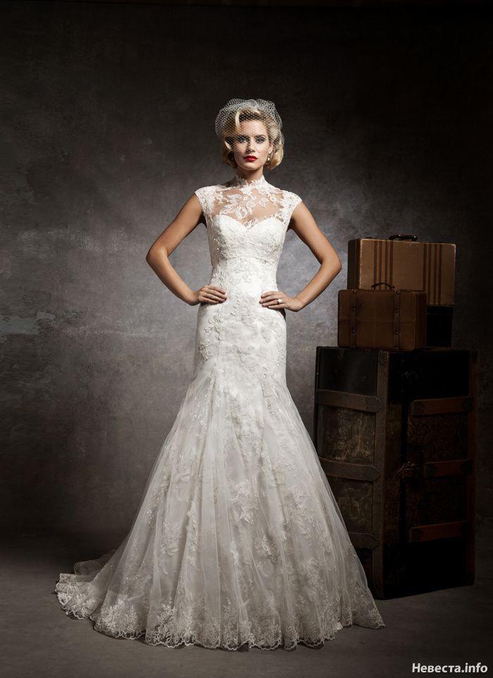 retro wedding | Платье на свадьбу, Кружевное свадебное ...