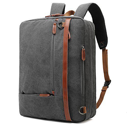 f3ea87673cd CoolBELL Convertible Backpack Shoulder bag Messenger Bag Laptop Case  Business Briefcase Leisure Handbag Multi-functional