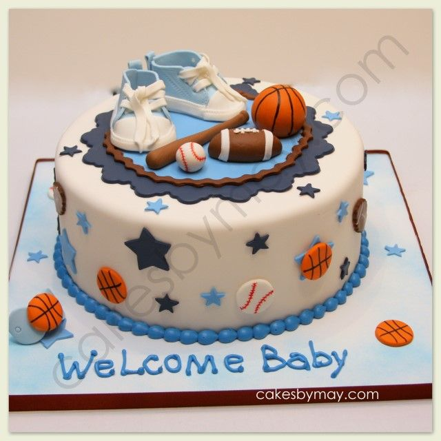 Baby Shower Cake Ideas Sports Theme With Images Baby Shower