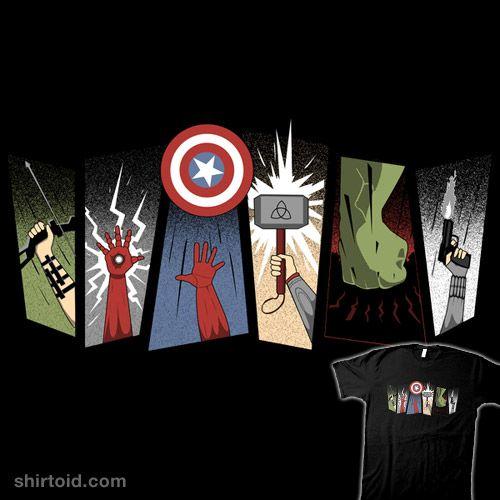 """Avengers"" by Riverart Hawkeye, Iron Man, Captain America, Thor, Hulk, and Black Widow"