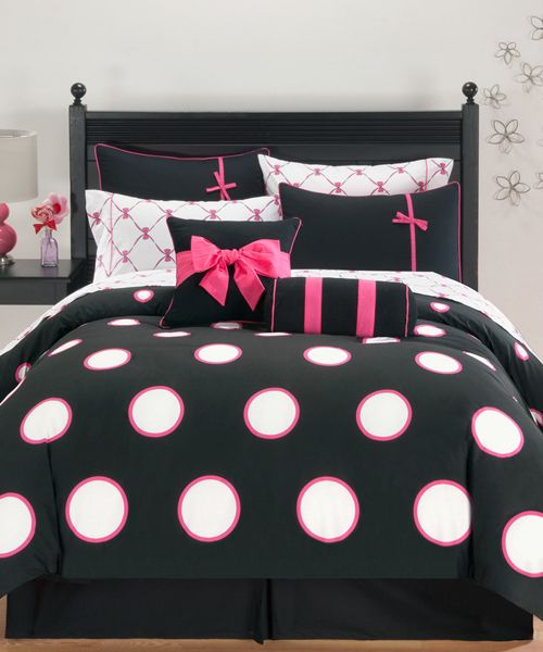 Sophie Black White Pink Bedding Chelseas Style Comforter