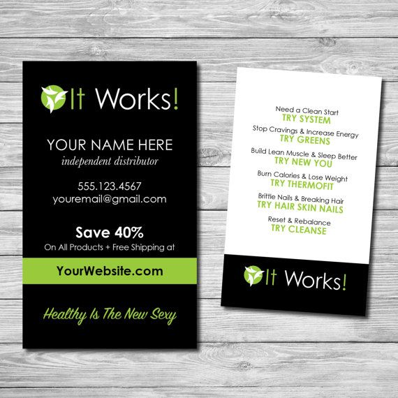 It Works Global Business Cards For Distributors Marketing Business Card Printable Business Cards Custom Business Cards