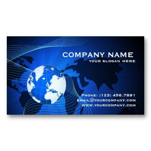 Information, data and communication technology business card templates