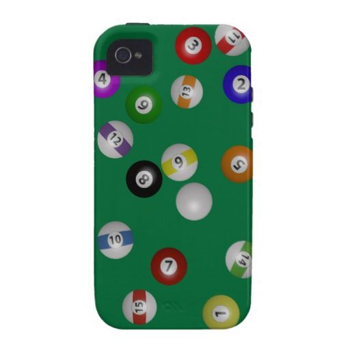 $48.55 Pool Table And Balls Vibe IPhone 4 Covers 3D