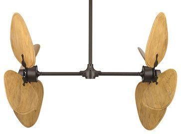 Ceiling Fan Double Vertical 68 Inch Bronze Double Vertical