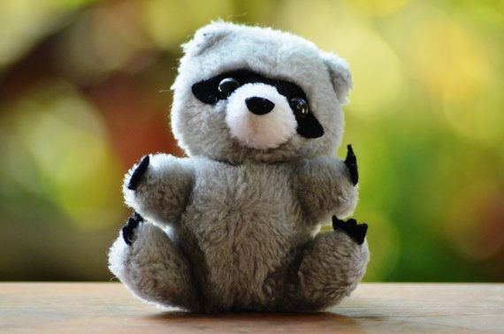 Dakin 1980 Baby Raccoon Bandit Mini Stuffed Animal Plush Shredded