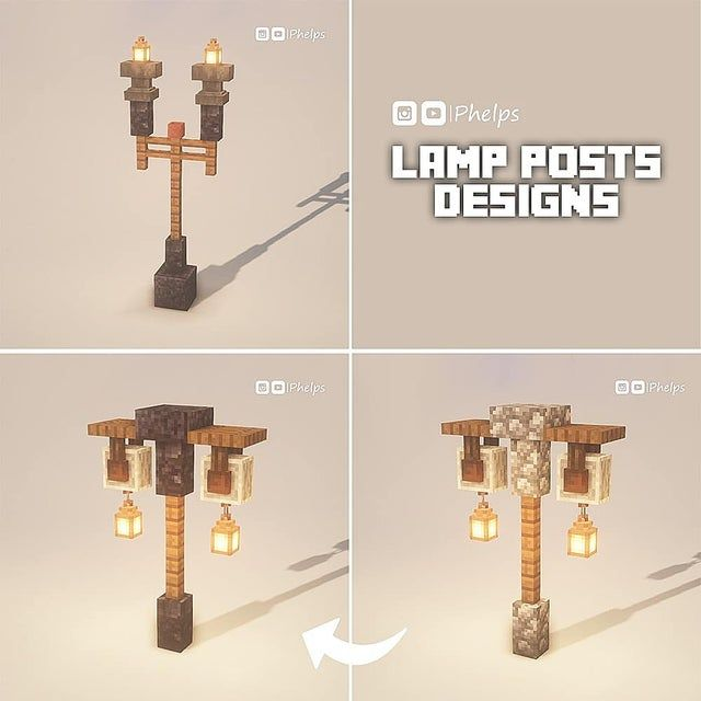 "Some lamp post designs 💡The first one was inspired by ""Scar"""
