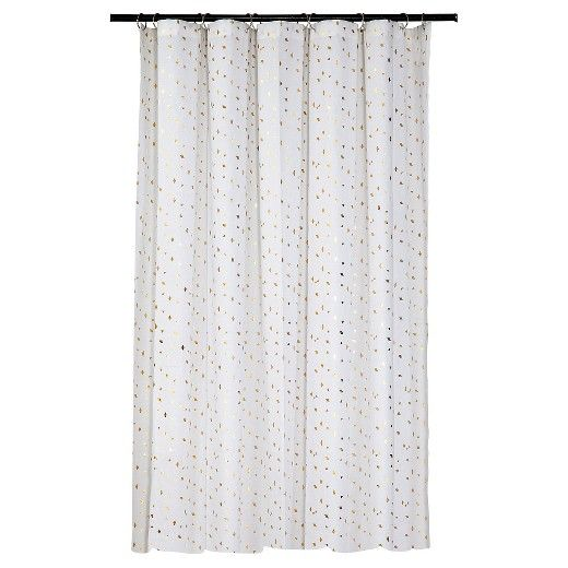 Add Some Festive Sparkle To Your Bathroom With The Room Essentials Gold  Diamond Shower Curtain.