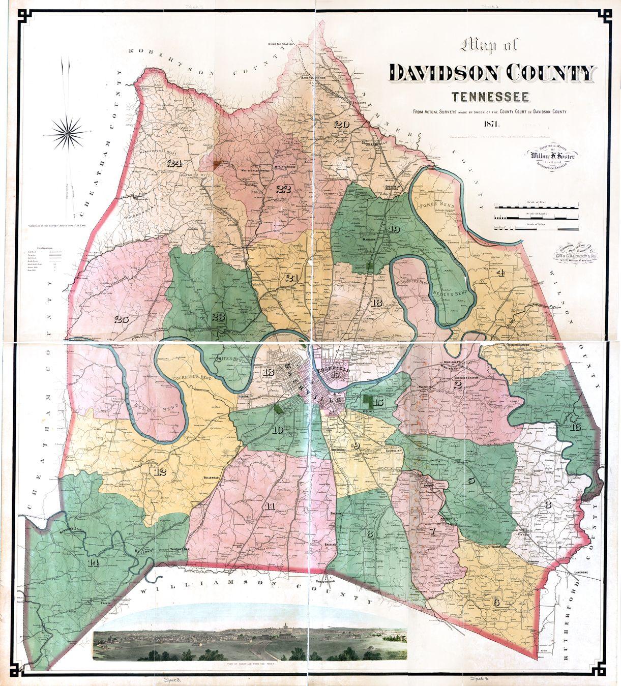 Nashville Us Map.1871 Map Of Nashville Historic Pictures Of Nashville Tn In 2019