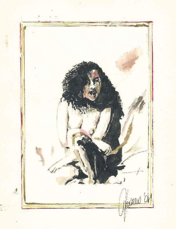 """Nudo"" Acquerello 35x42 Scarpa - Venezia info@mirabiliashop.com  link workshop del Maestro: http://www.mirabiliashop.com/venice%20art.htm  Direct contact: Fabrizio"