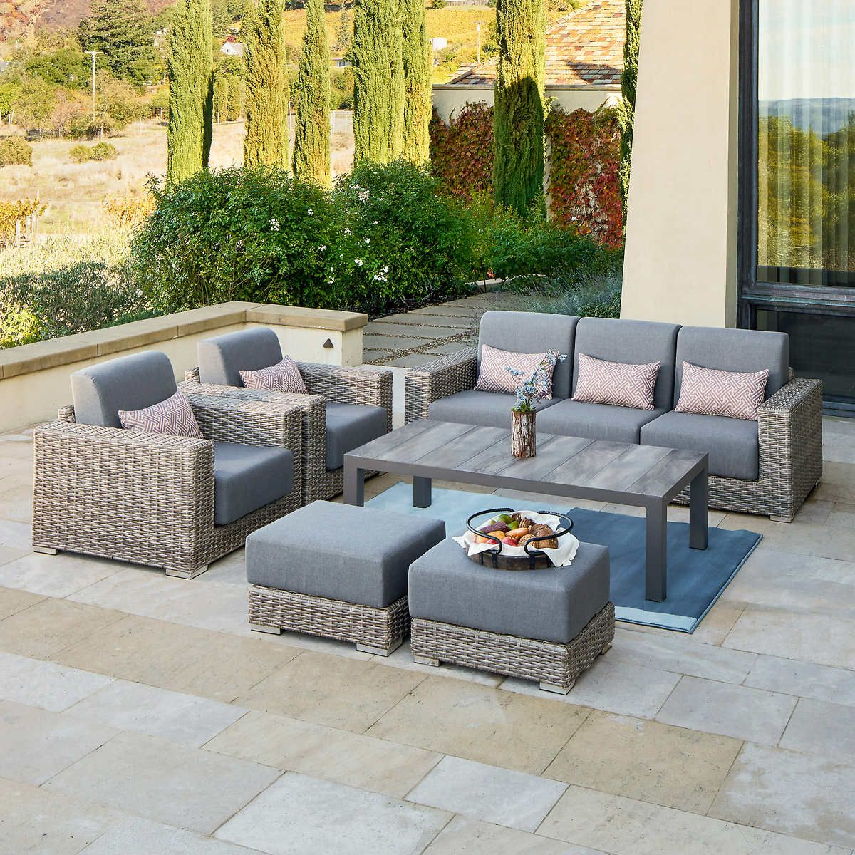 Pin By Anne Duff On Outdoor Furniture Outdoor Furniture Patio Furniture Layout Gray Patio Furniture