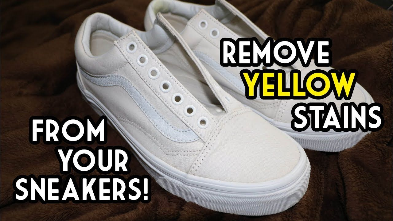 How to remove yellow stains from white sneakers the