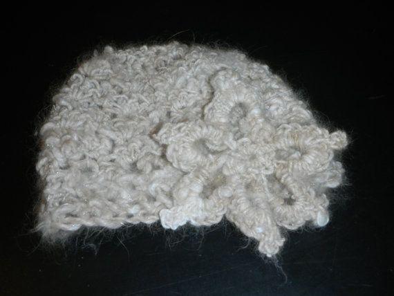 Knit English Angora Baby Hat by CornerCottageArt on Etsy, $20.00