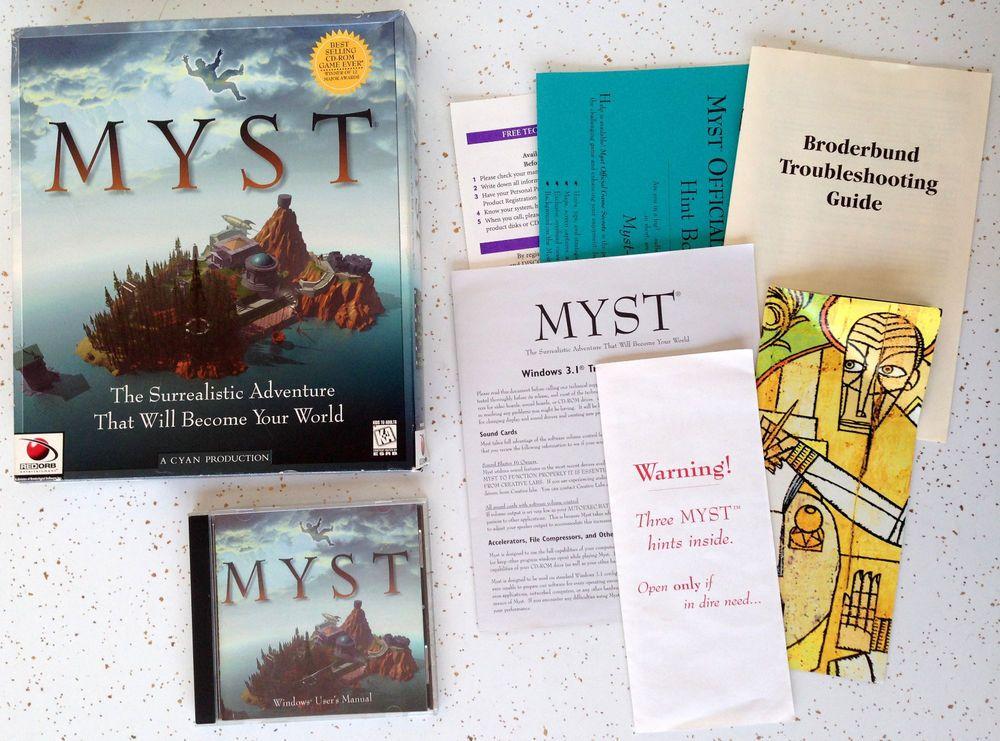 Vintage MYST PC Computer Game #Vintage #Computergame #Myst #Windows #90's #Rare #Oldschool