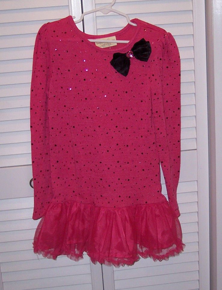 Bobbie Brooks For Girls Ls Top Size M 7 8 Embellished Bow Tutu