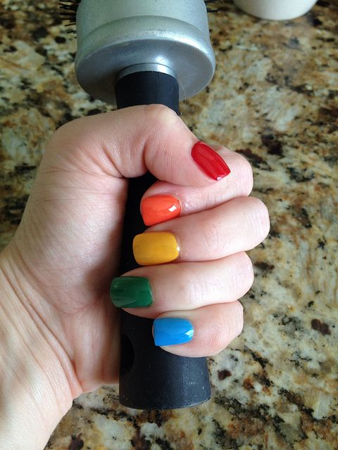 Reward for not biting my nails, and always something colourful! :)