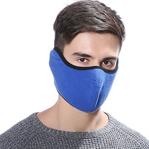 STbra Windproof Ski Mask Cold Weather Winter Motorcycle Face Neck Ear mouth  Warmer Fleece Mask Polyester bac1206fa6