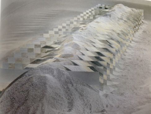 Robert Smithson: Mirror and Shelly Sand  1970 Fifty mirrors, shells, sand…