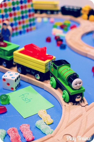 Game Toys To Practice : Candy train game counting letter recognition and