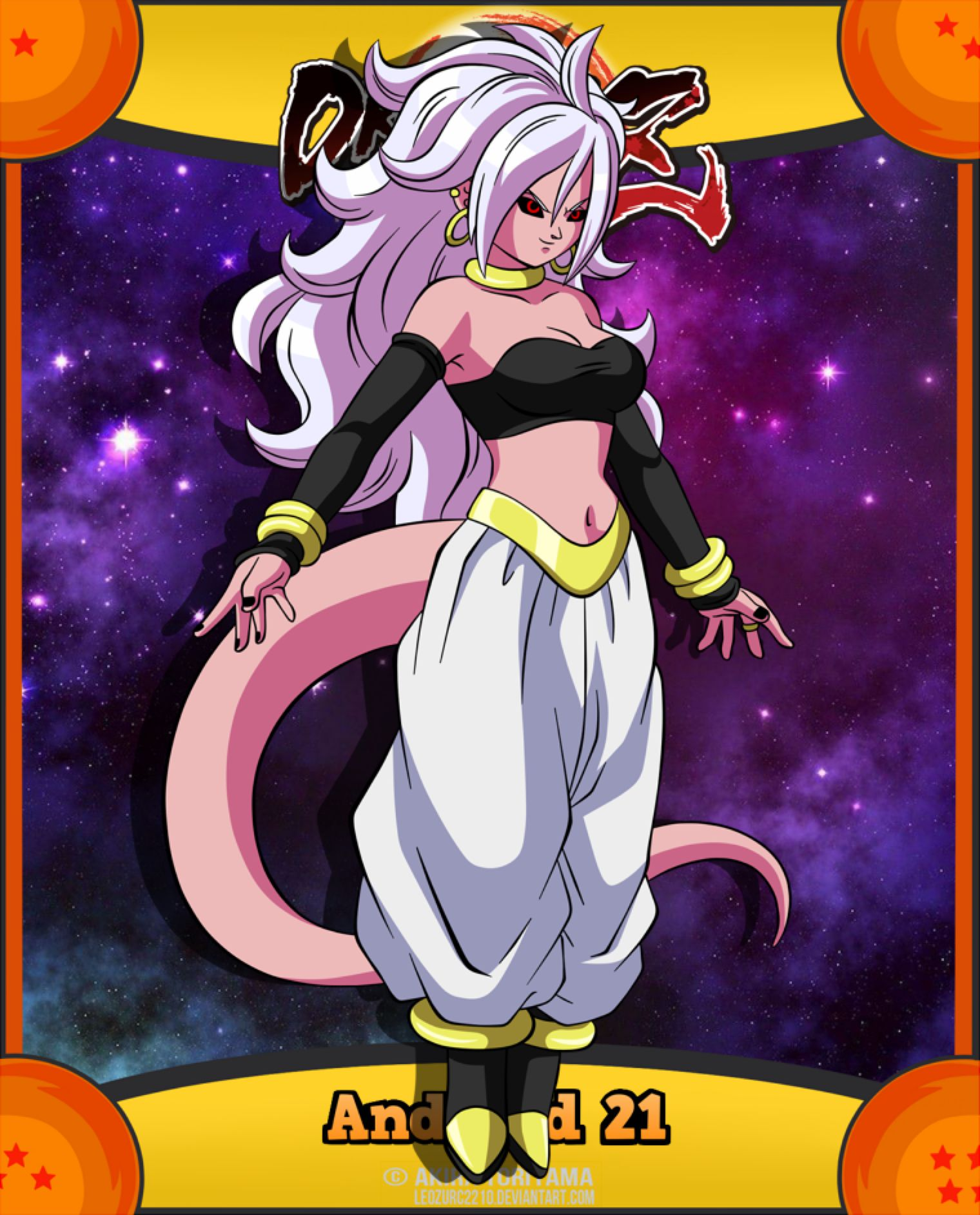 Android 21 by LeoZURC2210 on DeviantArt in 2020 Anime