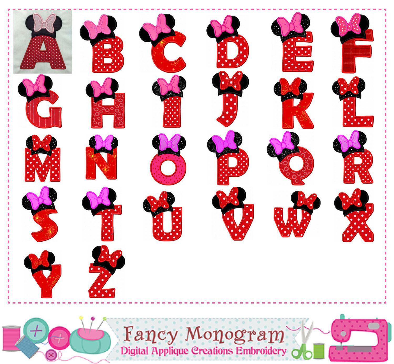 Minnie Alphabet Embroidery