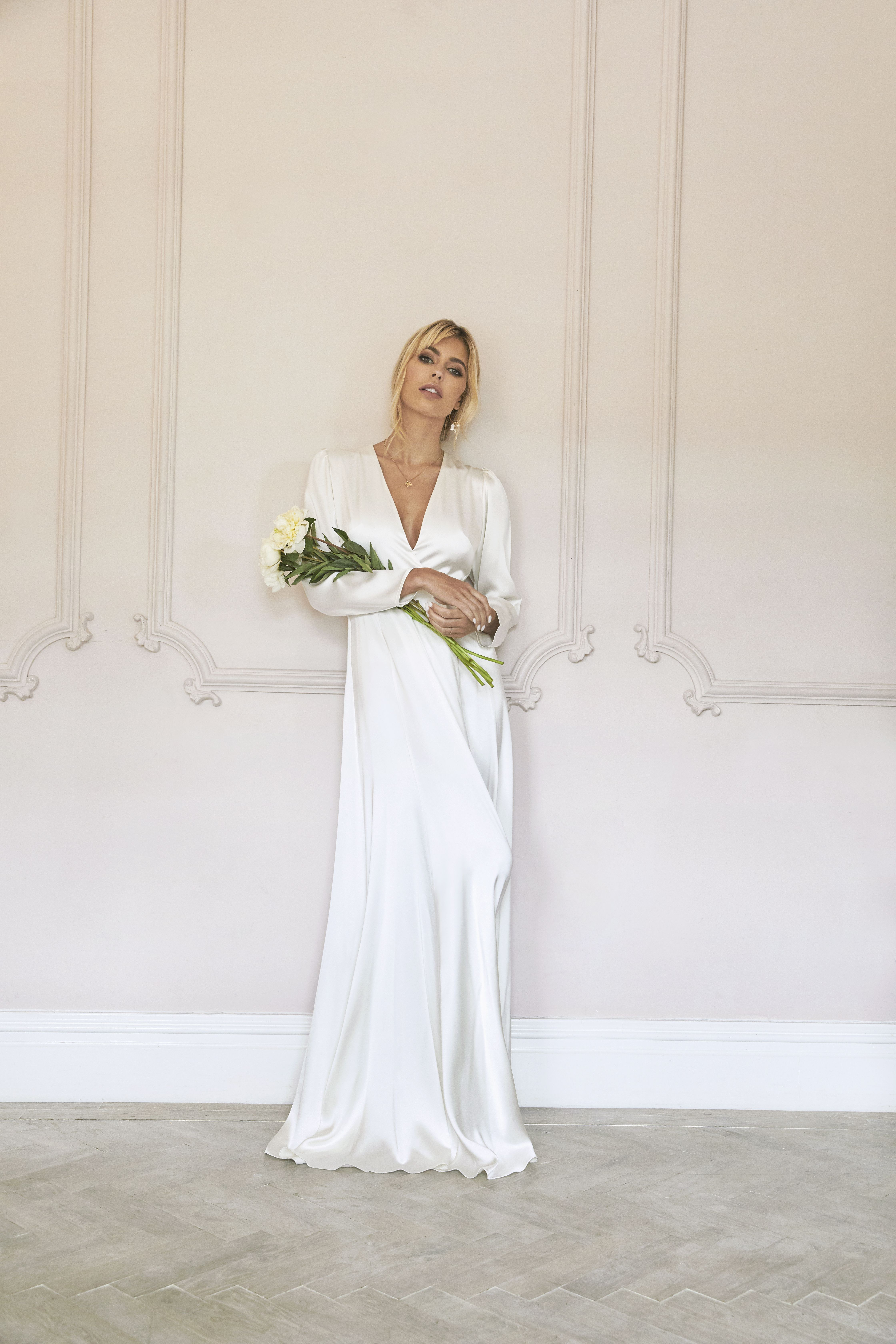 Olsen Wedding Dress Long Sleeve Sheer Wedding Dress Wedding Dresses [ 6720 x 4480 Pixel ]