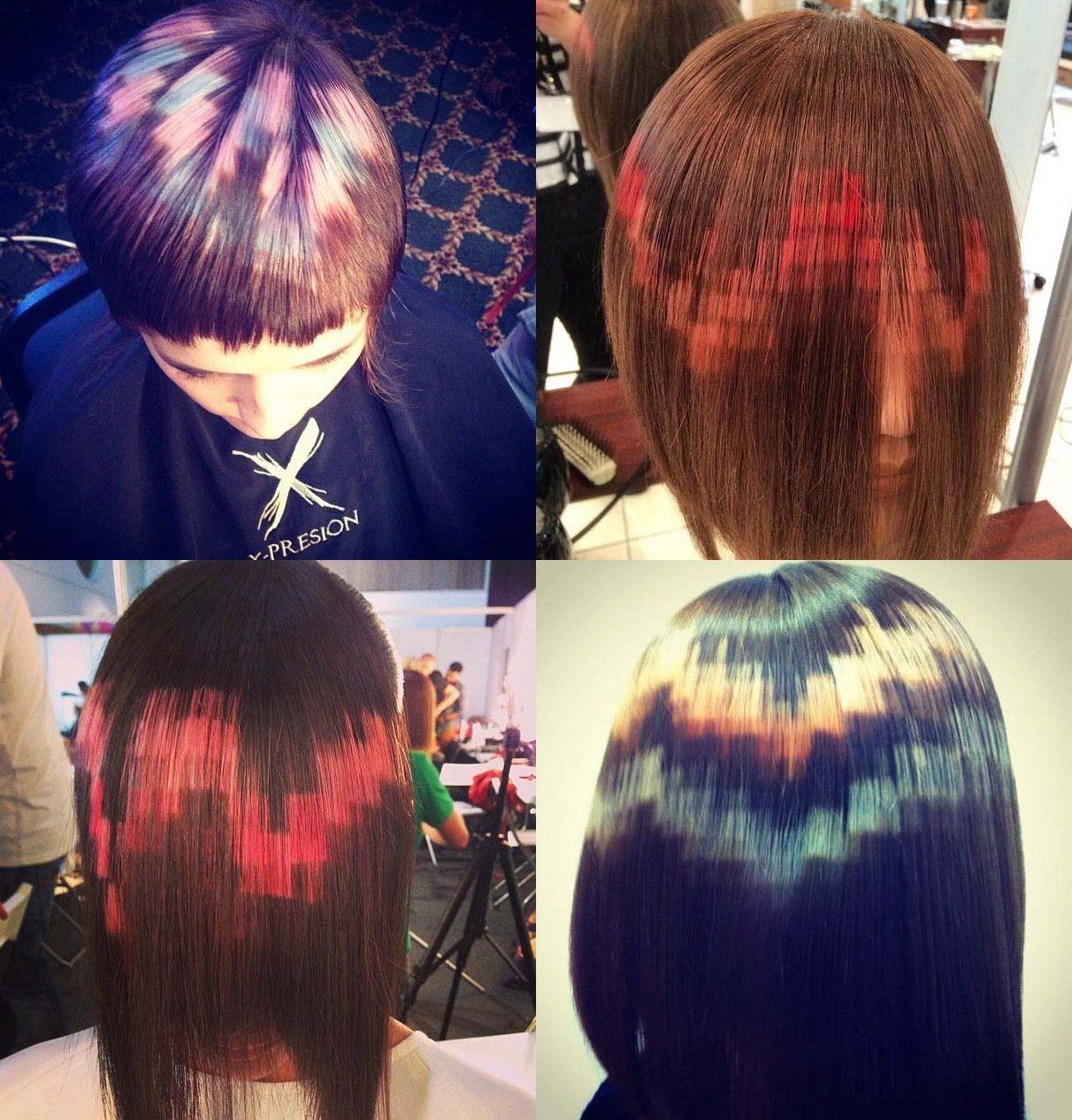 Hair That Looks Like Pixel Art Xpresionpixel Hair Trends 2015 Hair Trends Hair Color Techniques