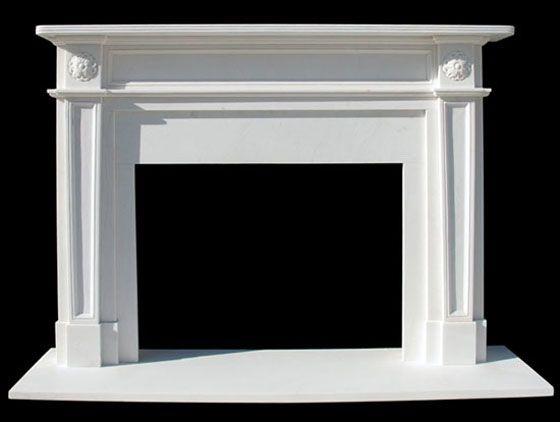 English Regent Marble Mantel | White Fireplace Surround Marble ...