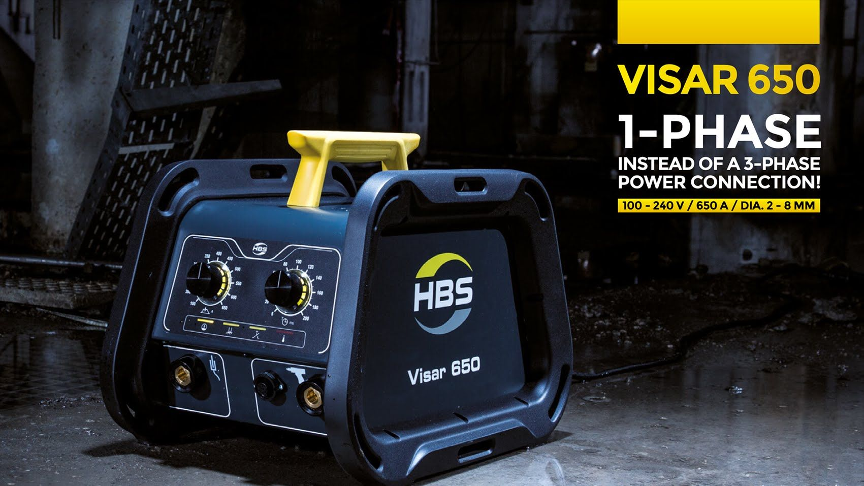 Visar 650 ARC stud welding with 1 phase instead of 3 phases H264