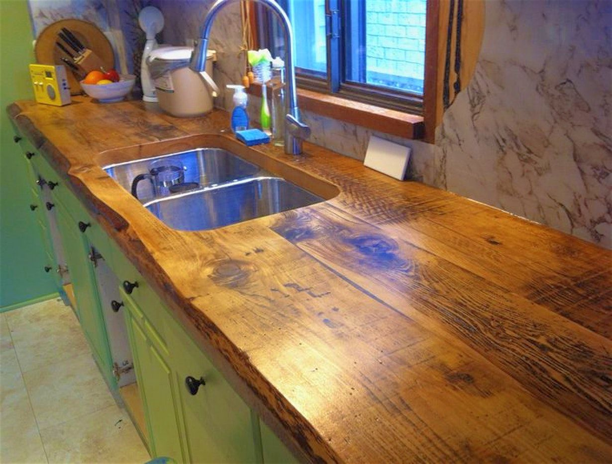 Kitchen Sealing Wood Countertops In The Kitchen Make Plywood