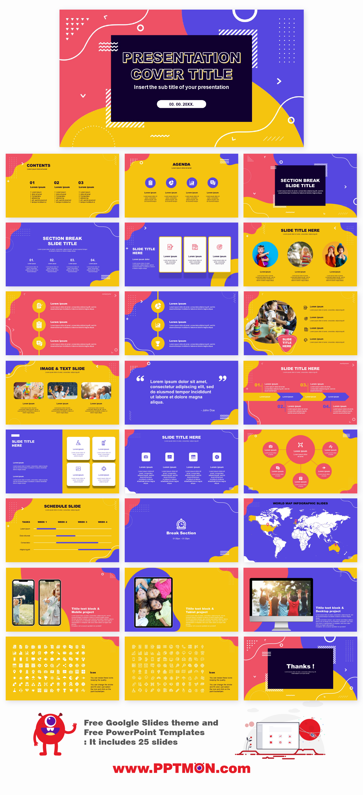 Wave Memphis Free Presentation Templates Free Powerpoint Templates And Google Sli In 2020 Powerpoint Design Templates Presentation Template Free Powerpoint Templates