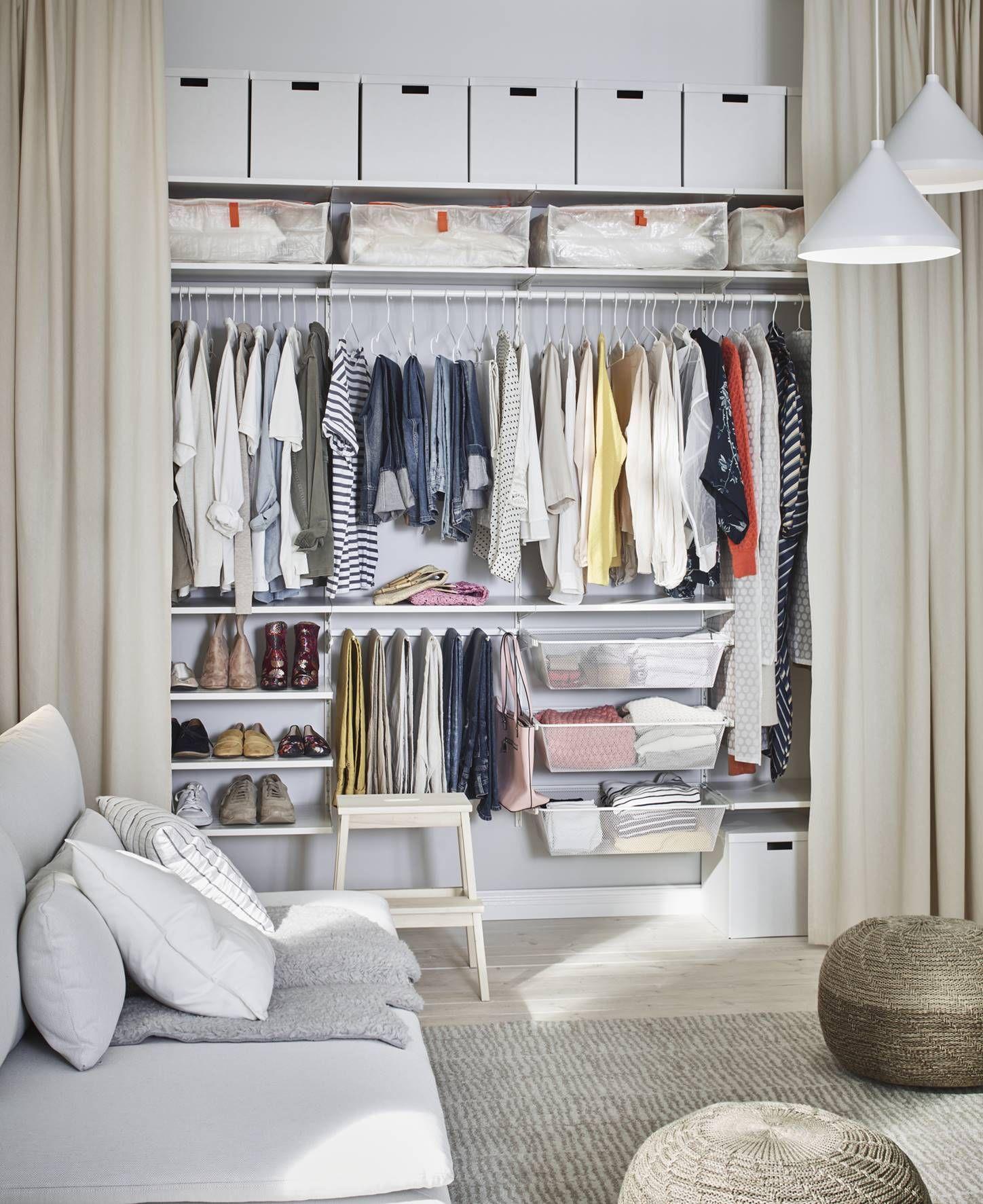 Y armarios sin puertas en 2020   Ikea, Decoracion de ...