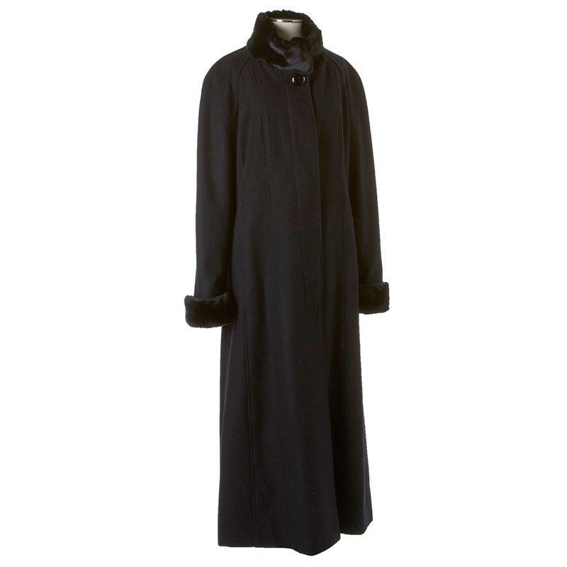 171ab190d93d5 Wool Blend Maxi Coat w Faux Fur