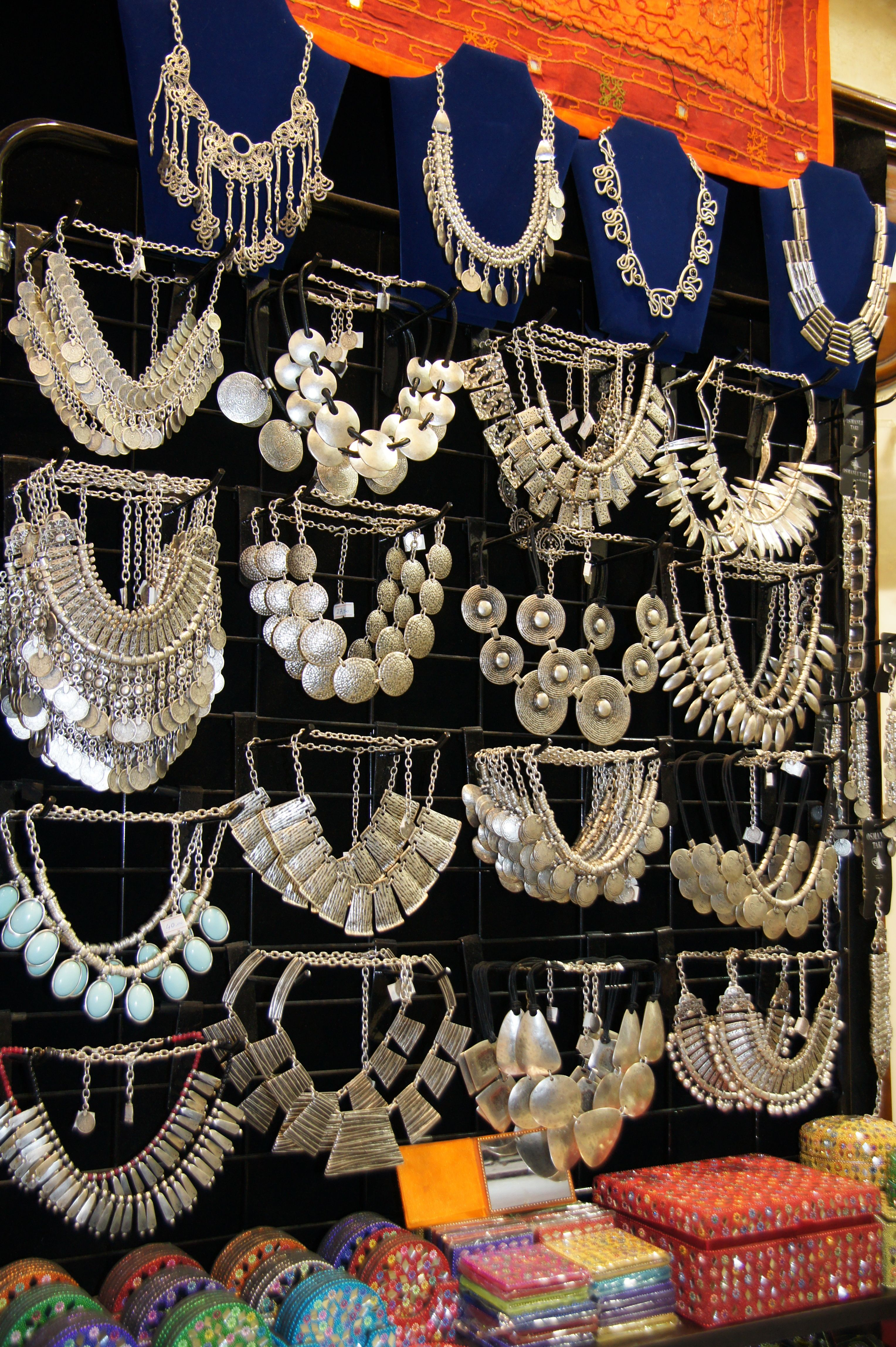 Grand Bazaar - Silver Jewelry (photo by Peggy Mooney) | jewelry