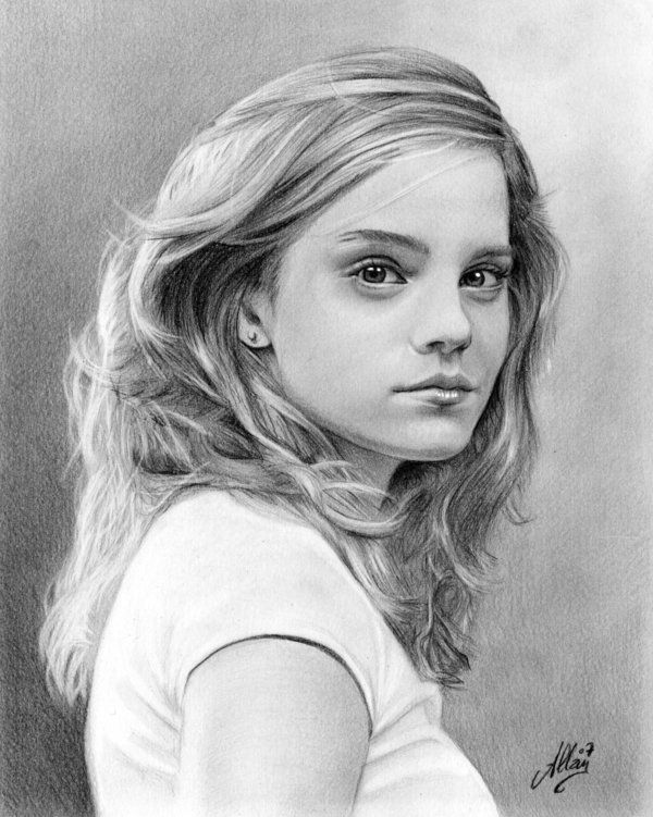 Emma Watson By Artisallan On Deviantart Portrait Pencil Portrait Portrait Photo
