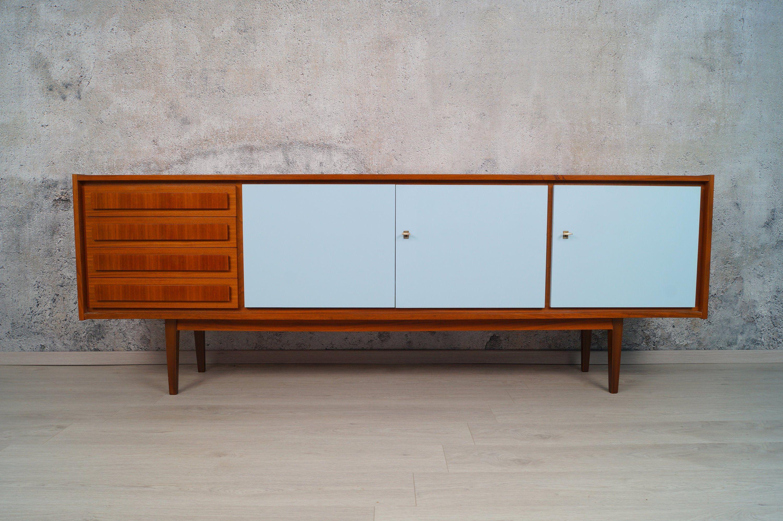 Sideboard 60er Teak Bunt Kommode Vintage Mid Century Modern Mid