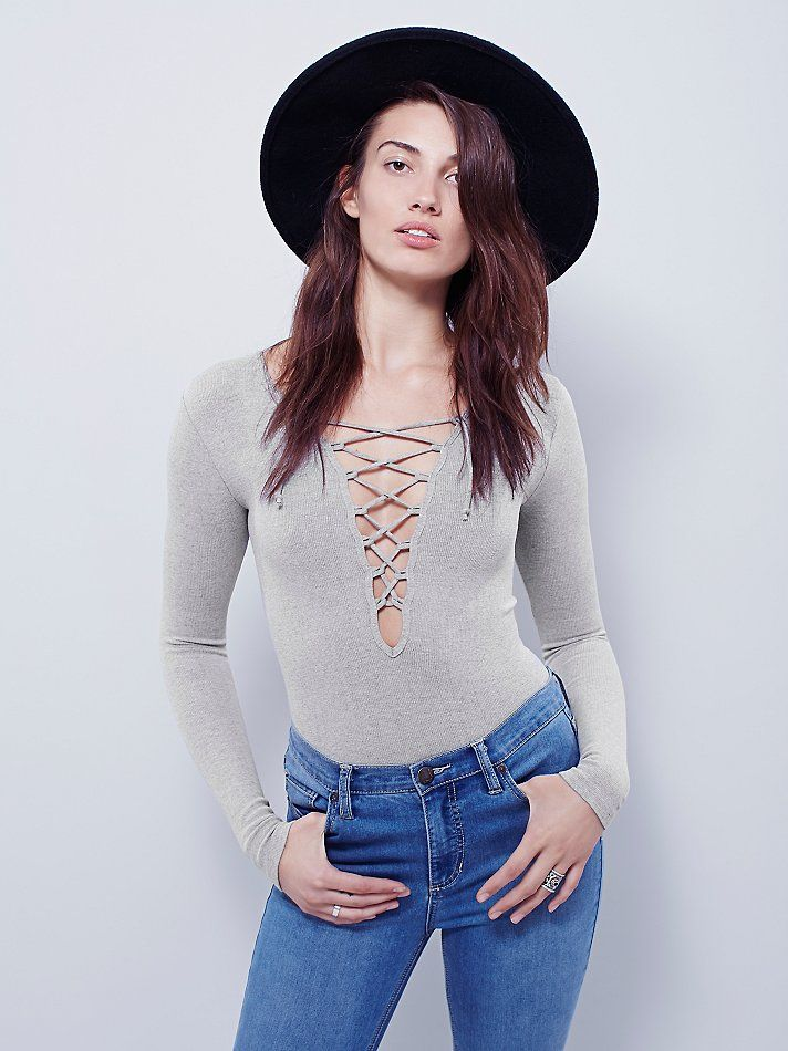38b297bbd8 Intimately Lace Up Layering Top at Free People Clothing Boutique ...