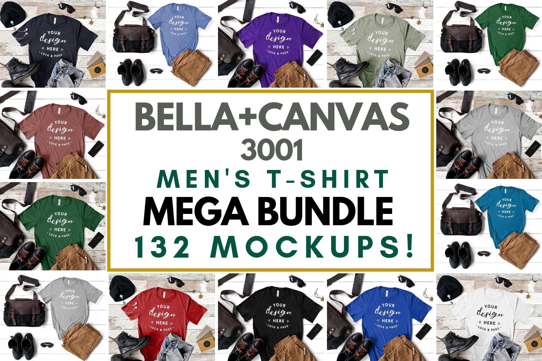 Download Men S Bella Canvas 3001 Masculine T Shirt Mockup Mega Bundle 179316 Mockups Design Bundles Design Mockup Free Tshirt Mockup Free Psd Mockups Templates