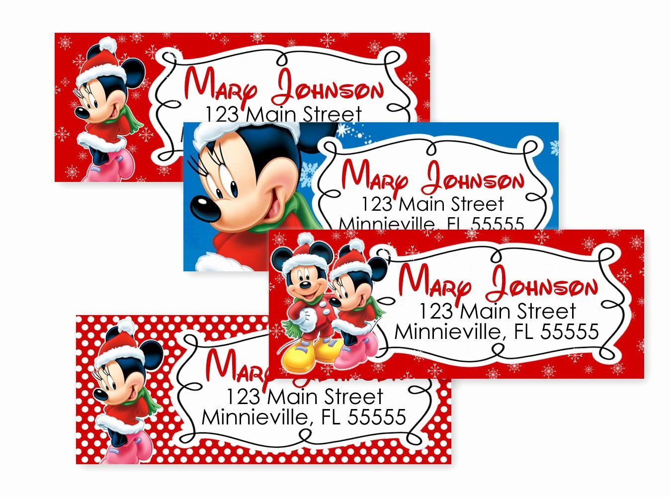 30 Mickey Mouse Address Label In