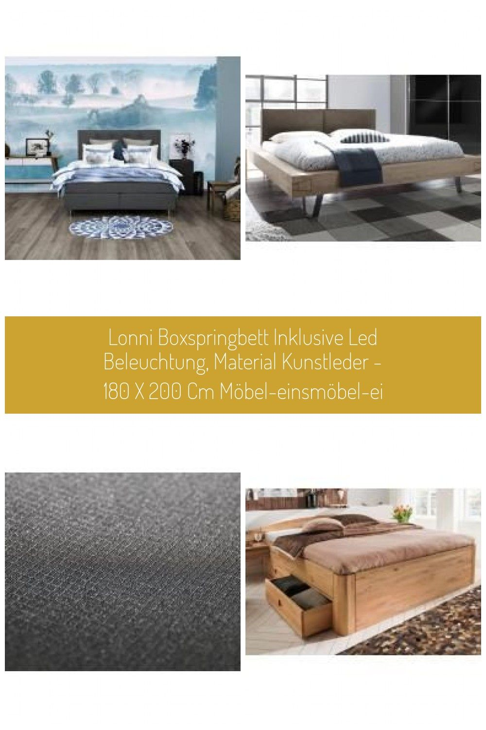 Places Of Style Boxspring Bett Nordica Grau H2 Places Of Styleplaces Of Style Pflanzen Dekor Boxspringbe In 2020 Modernes Design Led Beleuchtung Massivholzbett